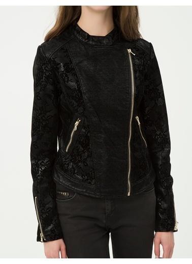 Deri Görünümlü Ceket-Koton
